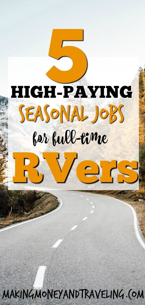 High Paying Jobs for RVers