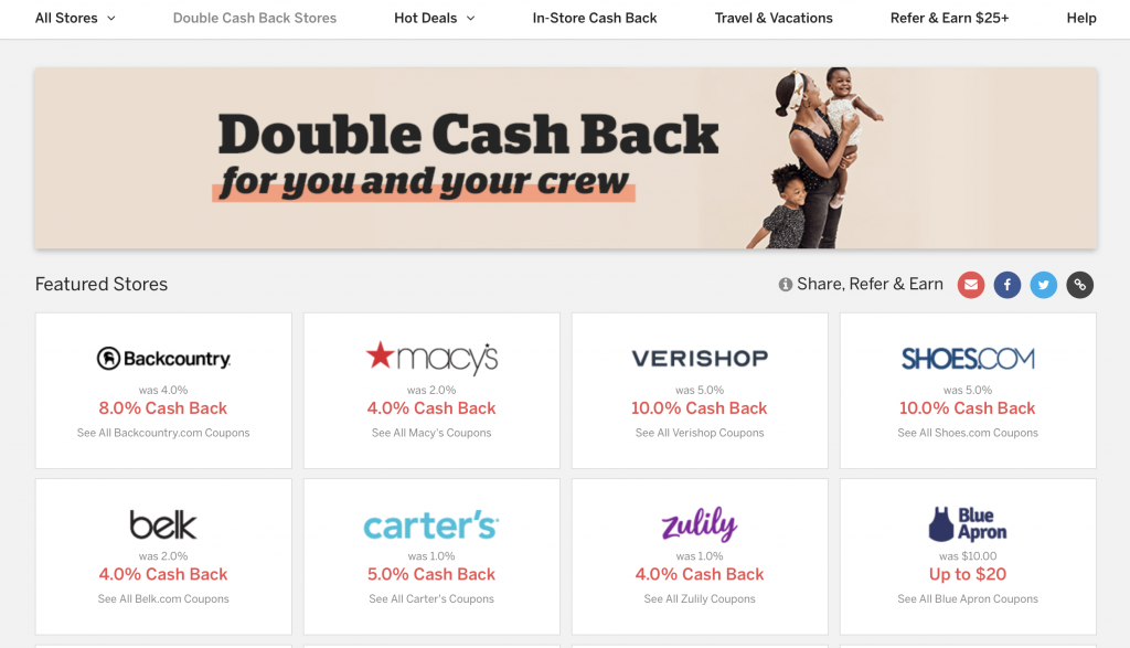How does Rakuten Work - Double Cash Back Stores