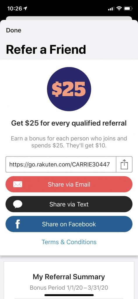 Refer a Friend Rakuten App