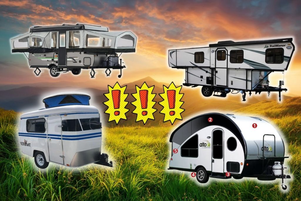 unique small pop up campers with bathrooms and amenities