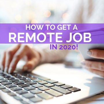 How to get a remote job
